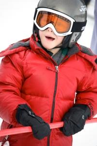 Josh learning to ski
