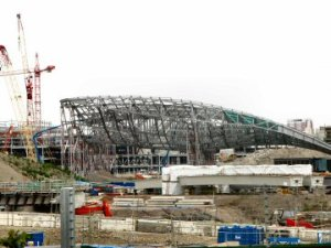 Skeleton of the Olympic Aquatic Stadium